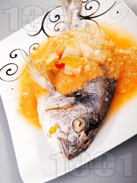 Ципура със зеленчуков сос - снимка на рецептата